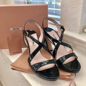 Miu Miu black patent heels